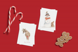 Pack of 4 cards – ¨Little Donkey¨ & ¨Do you want to build a snowman¨