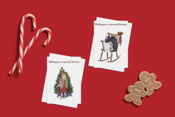 Pack of 4 cards – ¨Even fairies make wishes¨ & ¨It´s the mole´s wonderful time of the year¨