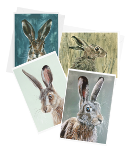 Pack of 4 cards – hares