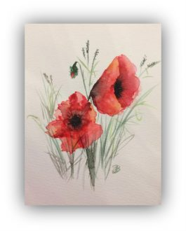 Workshop – Tuesday 14th September 2021 – Watercolours for beginners